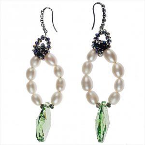 FRESHWATER PEARLS HOOP EARRINGS
