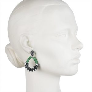 AVENTURINE & HEMATITE EARRINGS