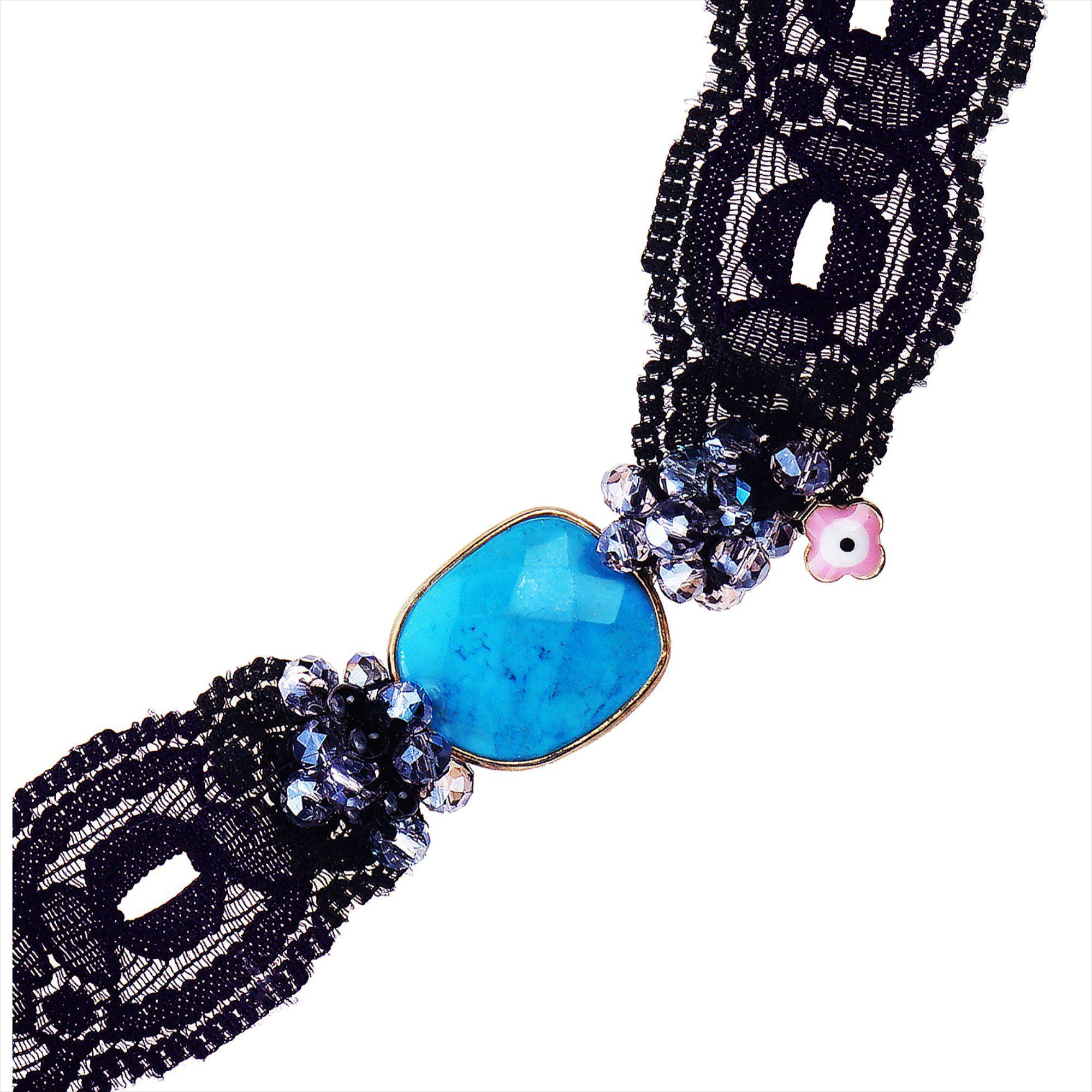 TURQUOISE & LACE NECKLACE 3