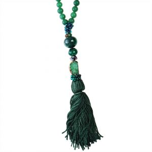 AVENTURINE & AGATE NECKLACE