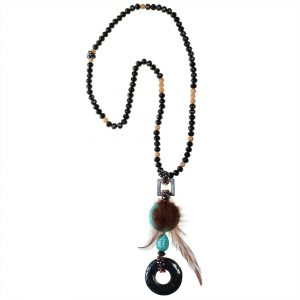 AGATE & CHAOLITE NECKLACE