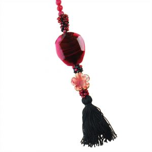 PINK & BLACK ONYX NECKLACE