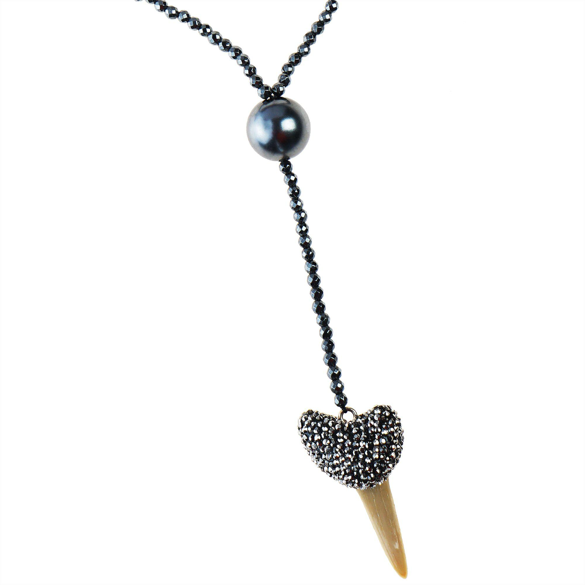 NATURAL TOOTH PENDANT NECKLACE 3