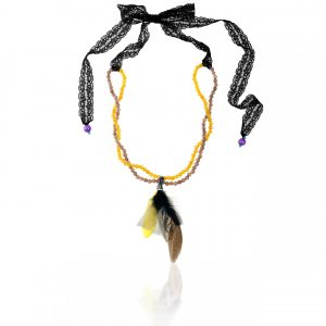 LACE & FEATHER NECKLACE