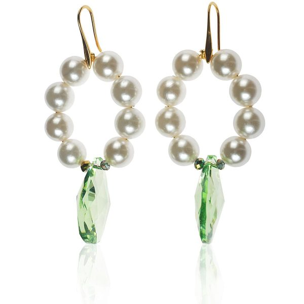 FRESHWATER PEARLS HOOP EARRINGS 2