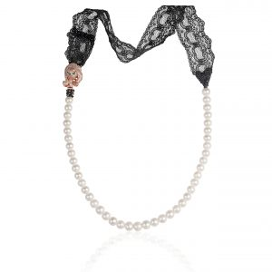 FRESHWATER PEARLS NECKLACE WITH PANTHER