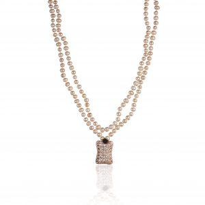 FRESHWATER PEARL NECKLACE WITH ELEMENT OF CUBIC ZIRCONIA