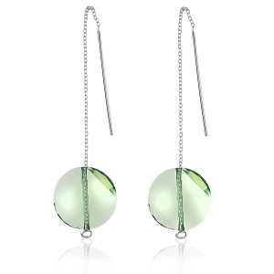 LIGHT GREEN SWAROVSKI EARRINGS