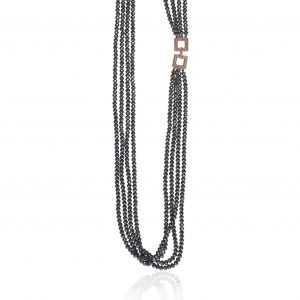 CRYSTAL NECKLACE WITH ZIRCON ELEMENT